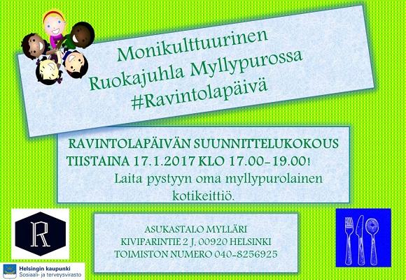 MyllypurolainenRavintolapäivän suunnittelukokous 17.1.2017 klo 17 19.00 pieni