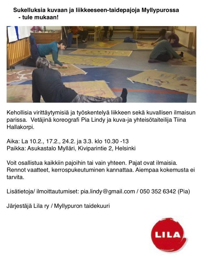 Sukelluksia kuvaan ja liikkeeseen Asukastalo Mylläri 2018